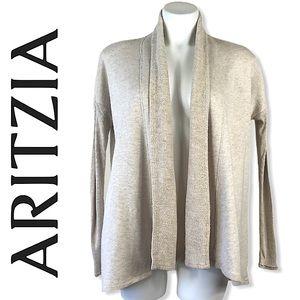 ARITZIA wilfred MWC25 oatmeal open front cardigan